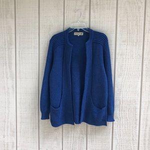 Peruvian Link Alpaca Collection blue long cardigan